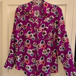 NWOT Express button-up top w/ adjustable sleeves